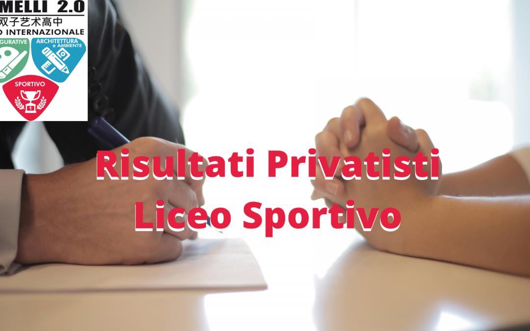 Risultati Privatisti Liceo Sportivo