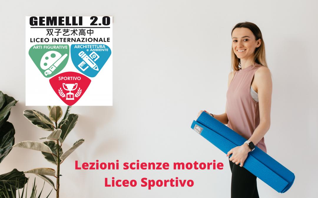 Lezioni scienze motorie Liceo Sportivo